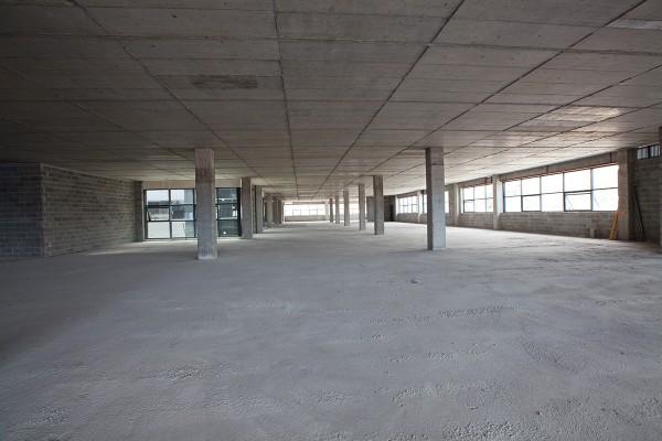 Vista de las oficinas previas al acondicionamiento.
